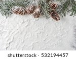 Snow Background With Snowy Fir...