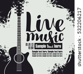 vector banner for the concert... | Shutterstock .eps vector #532206217