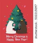 christmas card which shows a...   Shutterstock .eps vector #532215097