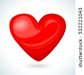 cute shiny red heart icon... | Shutterstock .eps vector #532221043
