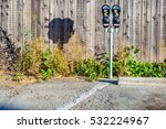 Two Isolated Parking Meters In...