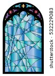 Church Stained Glass Gothic...