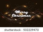merry christmas vector text...   Shutterstock .eps vector #532229473