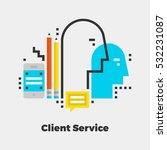 client service flat icon.... | Shutterstock .eps vector #532231087