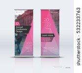 crimson roll up banner design... | Shutterstock .eps vector #532233763
