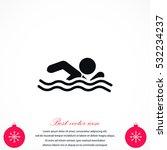 swim icon vector  flat design... | Shutterstock .eps vector #532234237
