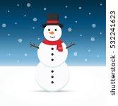 snowman. | Shutterstock .eps vector #532241623
