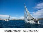 Luxury Yachts At Sailing...