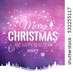 christmas and new year... | Shutterstock .eps vector #532255117