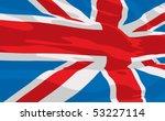 vector flag of united kingdom | Shutterstock .eps vector #53227114