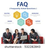 customer service faqs... | Shutterstock . vector #532282843