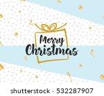 merry christmas text design.... | Shutterstock .eps vector #532287907