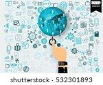 business technology... | Shutterstock .eps vector #532301893