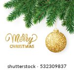 christmas card with fir tree... | Shutterstock .eps vector #532309837