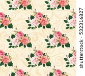 seamless floral pattern with... | Shutterstock .eps vector #532316827
