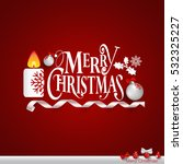 christmas greeting card with... | Shutterstock .eps vector #532325227