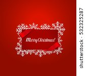 merry christmas greeting card... | Shutterstock .eps vector #532325287