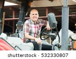 positive mature farmer working... | Shutterstock . vector #532330807