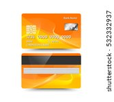 credit card two sides with... | Shutterstock .eps vector #532332937