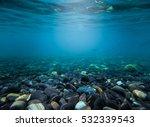 Rocks Under The Sea Waves Wate...