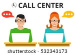 male and female call center...   Shutterstock .eps vector #532343173