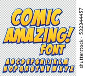 creative high detail comic font.... | Shutterstock .eps vector #532344457