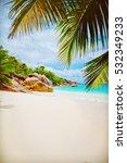 tropical island. the seychelles.... | Shutterstock . vector #532349233