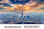 seoul cityscape  | Shutterstock . vector #532353907