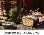 christmas curd pound cake on a... | Shutterstock . vector #532373797