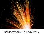 the light from optical fiber...   Shutterstock . vector #532373917