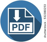 pdf icon vector flat design... | Shutterstock .eps vector #532380253