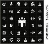 businessman team icon. business ... | Shutterstock . vector #532392943