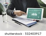 insurance coverage mix... | Shutterstock . vector #532403917