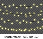 set of realistic color garlands ... | Shutterstock .eps vector #532405267