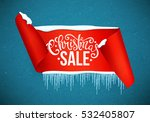christmas sale poster with... | Shutterstock .eps vector #532405807