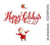holiday christmas background...   Shutterstock .eps vector #532409143