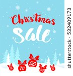 big christmas sale. seasonal... | Shutterstock .eps vector #532409173