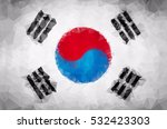 south korean polygon flag... | Shutterstock .eps vector #532423303