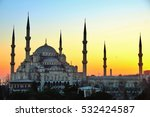 the sultan ahmed mosque or... | Shutterstock . vector #532424587