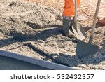 concrete pouring during... | Shutterstock . vector #532432357