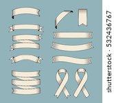 ribbon vector set. collection... | Shutterstock .eps vector #532436767