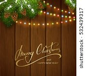 holiday lettering merry...   Shutterstock .eps vector #532439317