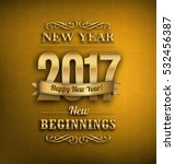 2017   new year greeting design ... | Shutterstock .eps vector #532456387