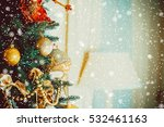 beautiful christmas living room ... | Shutterstock . vector #532461163