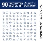 vector graphic set of icons in... | Shutterstock .eps vector #532477093