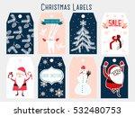 christmas labels | Shutterstock .eps vector #532480753