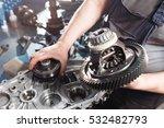 cross section of a car gearbox. ... | Shutterstock . vector #532482793