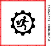 man in gear icon vector... | Shutterstock .eps vector #532490983