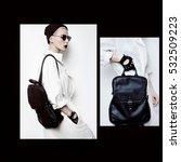 fall winter trend stylish... | Shutterstock . vector #532509223