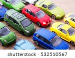 close up of colorful toy cars... | Shutterstock . vector #532510567
